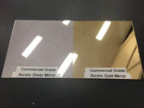 Plastic Fabrication | Cnc Laser Cutting | Gold Coast | Plastics Online | Silver Gold Commercial Acrylic Mirror