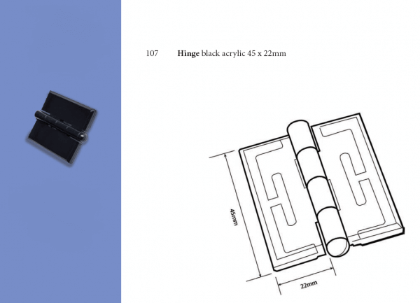Plastic Fabrication | Cnc Laser Cutting | Gold Coast | Plastics Online | 107 Black Hinge Png