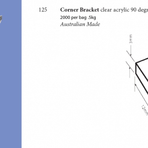 Plastic Fabrication   Cnc Laser Cutting   Gold Coast   Plastics Online   125 Corner Bracket
