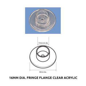 Plastic Fabrication | Cnc Laser Cutting | Gold Coast | Plastics Online | 16mm Dia. Fixing Flange Clear Acrylic