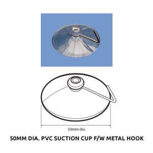Plastic Fabrication | Cnc Laser Cutting | Gold Coast | Plastics Online | 50mm Dia. Pvc Suction Cup F W Metal Hook