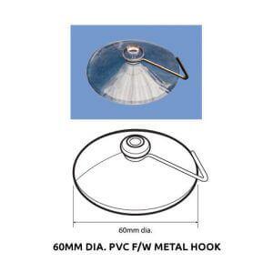 Plastic Fabrication | Cnc Laser Cutting | Gold Coast | Plastics Online | 60mm Dia. Pvc Suction Cup Fw Metal Hook
