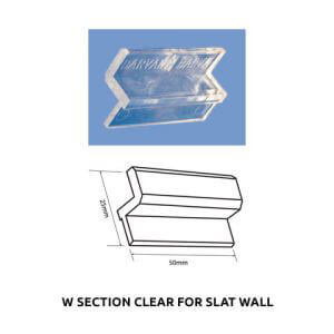 Plastic Fabrication | Cnc Laser Cutting | Gold Coast | Plastics Online | W Section Clear For Slat Wall