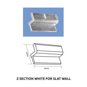 Plastic Fabrication | Cnc Laser Cutting | Gold Coast | Plastics Online | Z Section White For Slat Wall