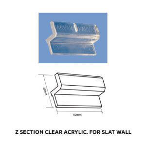 Plastic Fabrication | Cnc Laser Cutting | Gold Coast | Plastics Online | Z Section Clear Acrylic. For Slat Wall