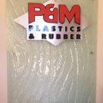 Plastic Fabrication | Cnc Laser Cutting | Gold Coast | Plastics Online | 6mm Diamantina Office Entrance 1 768x1024